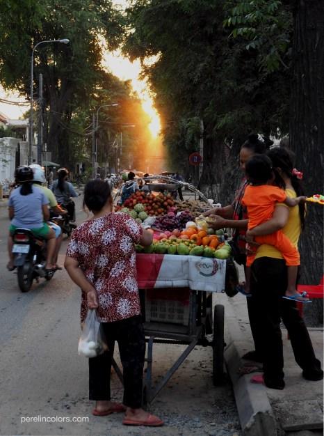 Buying fruits