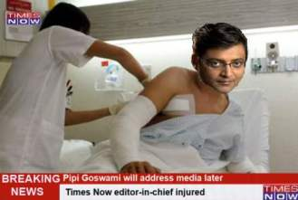 BREAKING NEWS: Arnab hospitalized. Not allowed to scream, his guts imploded #ModiSpeaksToArnab