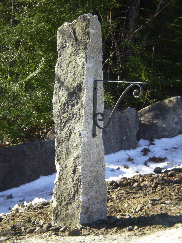 Granite Mailbox Post Bethel Maine Perennial Stone