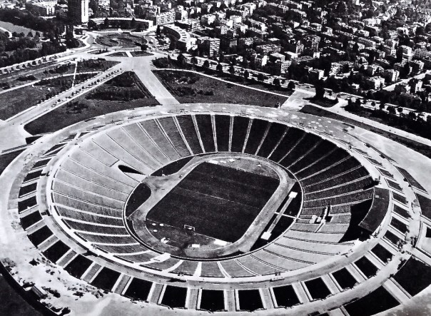 The national stadium in Warsaw is built on the site of the previous national stadium, 'Stadion Dziesieciolecia'.