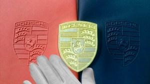 тиснение Porsche