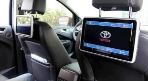 Мониторы на спинку сидений Тойота