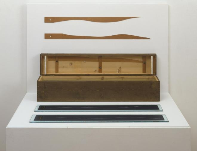 3 stoppages ?talon (3 Standard Stoppages) 1913-4, replica 1964 by Marcel Duchamp 1887-1968