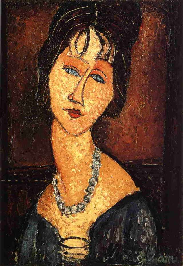 -font-b-Jeanne-b-font-Hebuterne-with-Necklace-Amedeo-font-b-Modigliani-b-font-Painting
