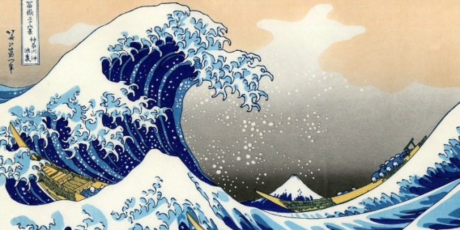 Hokusai (1760-1849) Japanese artist. 'The Wave' World History Archive