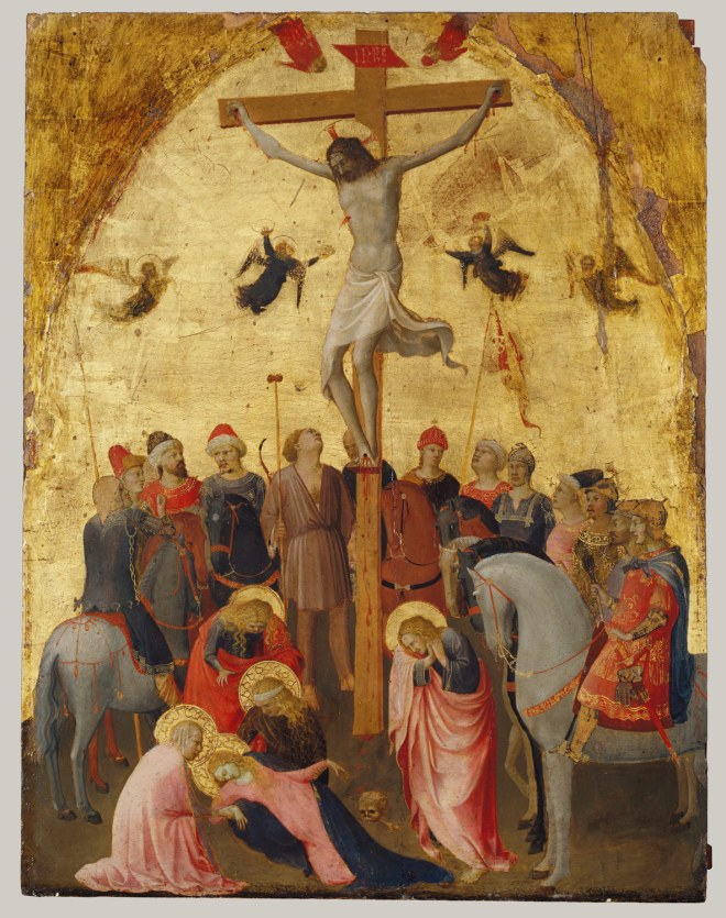 Working Title/Artist: Fra Angelico: The Crucifixion, ca.1420 Department: European Paintings Culture/Period/Location: HB/TOA Date Code: Working Date: photography by mma 1994, transparency #1a scanned and retouched by film and media (jn) 1_4_06