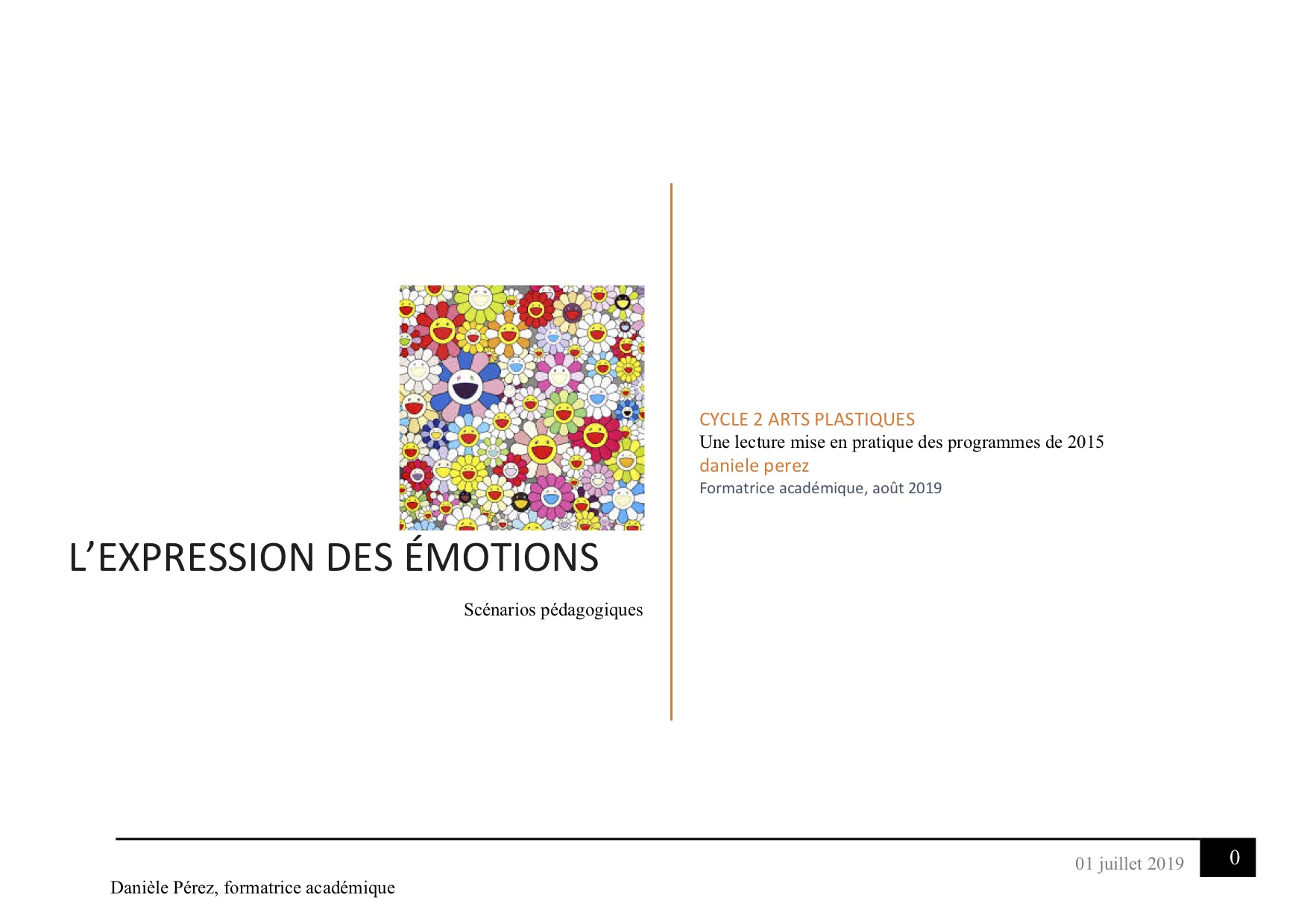 L'expression des émotions, Cycle 2