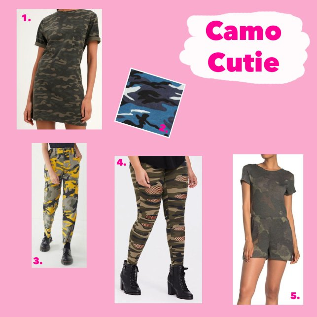Coachella camoflauge look for less