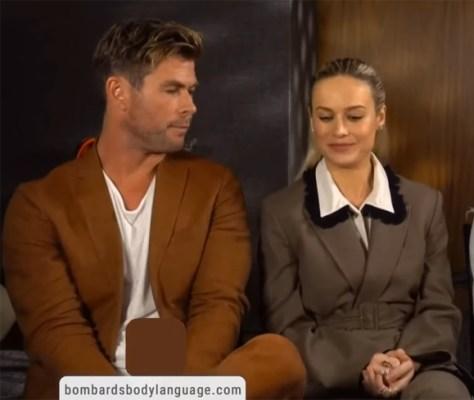 Chris Hemsworth Brie Larson awkward