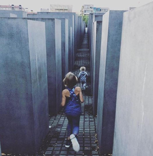 Pink's kids visiting the Holocaust Memorial