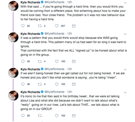 kyle richards goes off on lisa on twitter