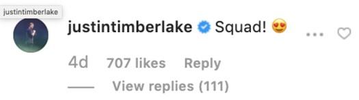 Justin Timberlake Jessica Biel Instagram emoji response