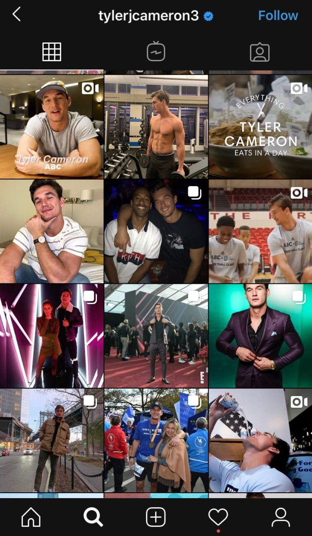Tyler Cameron Hannah Brown deleted Instagram pictures