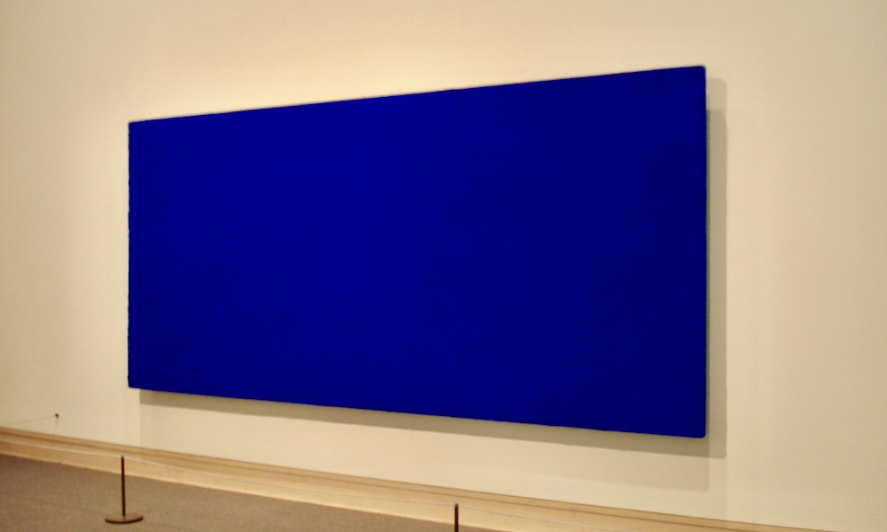 Yves Klein IKB 71 (California) 1961 Dry pigment in synthetic resin on canvas
