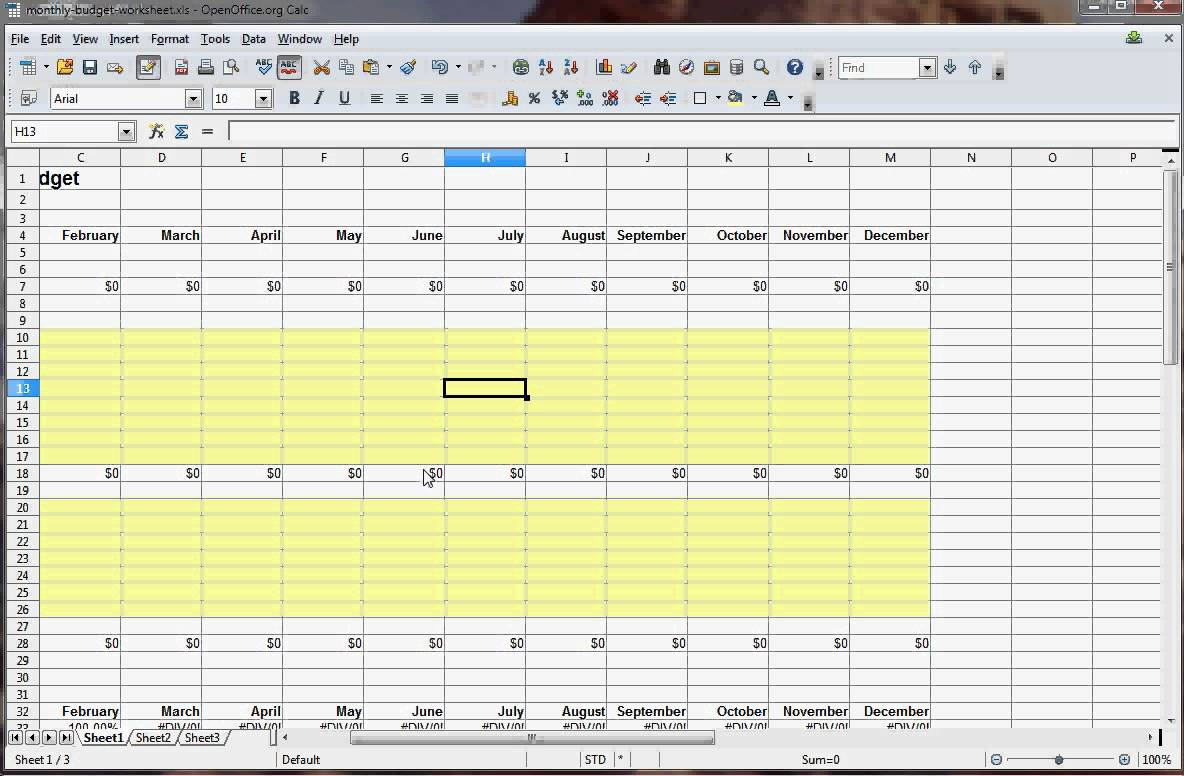 How To Make A Budget Spreadsheet In Excel