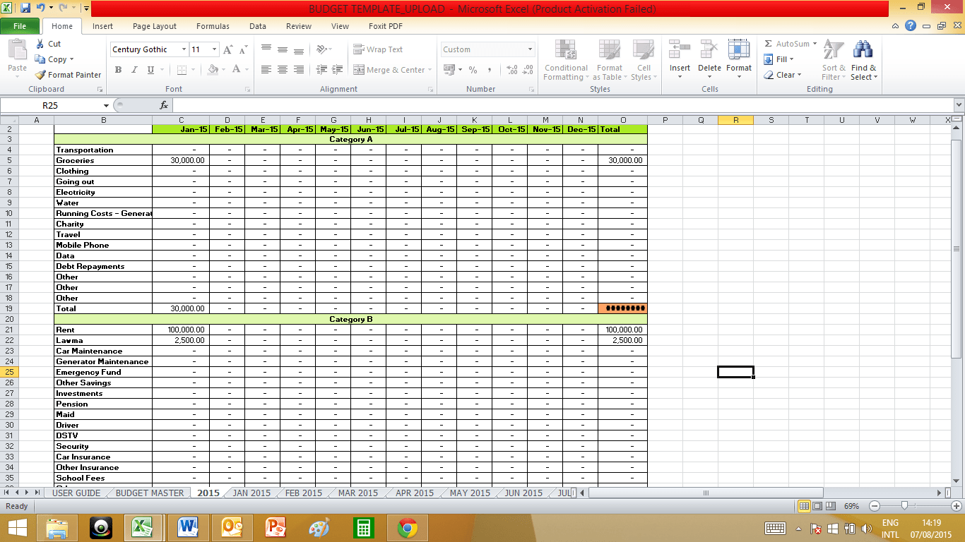 50 30 20 Budget Spreadsheet Template Spreadsheets