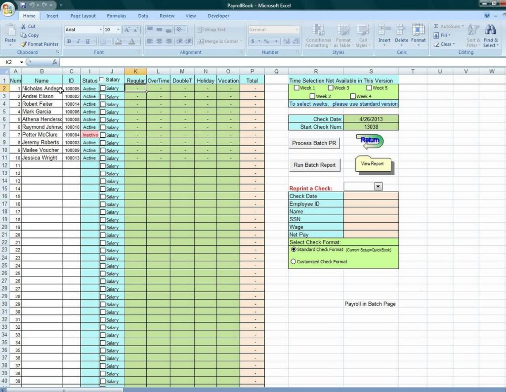Vacation Accrual Calculator Excel Template