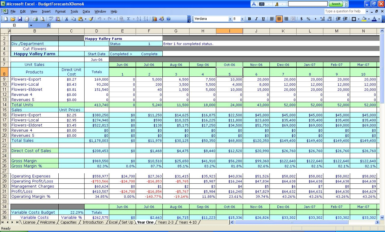 Business Ine And Expense Worksheet