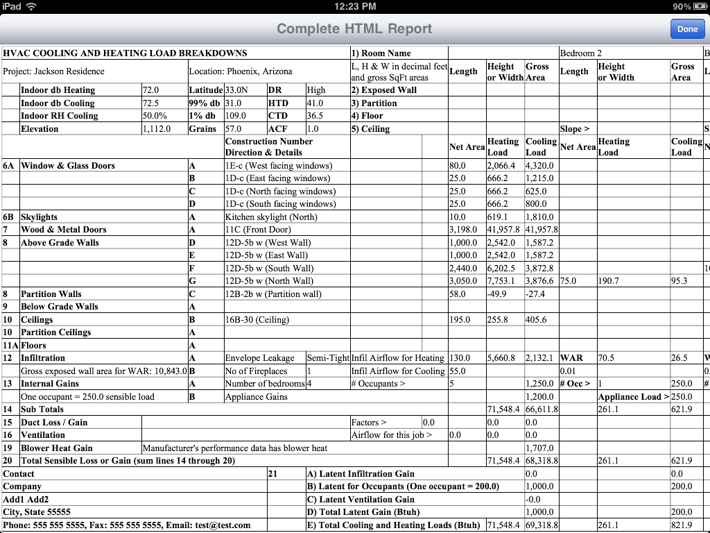 Residential Load Calculation Worksheet Residential Load
