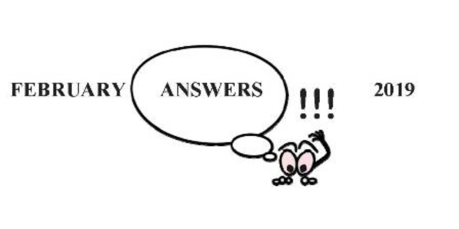 Jim S February Garden Answers