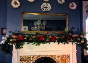 Christmas Garland Mantel Fireplace