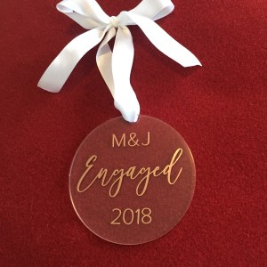 Our First Christmas Engaged Ornament