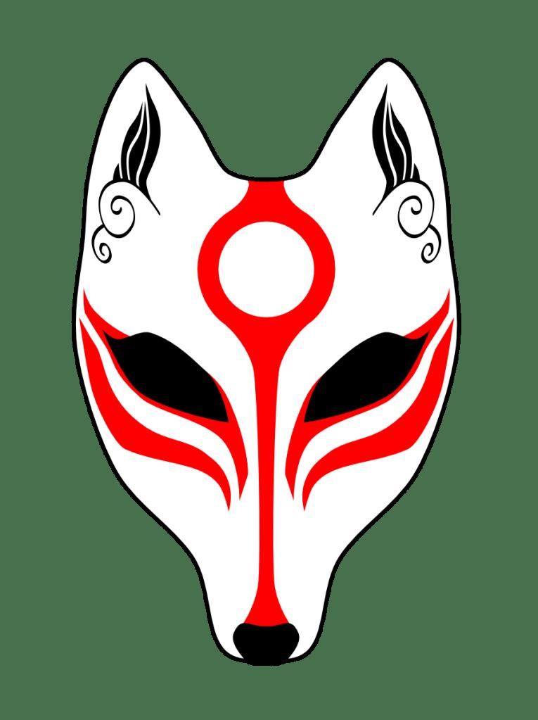 Kitsune mask design by The KamikaZEN
