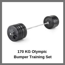 170 KG Olympic Bumper Training Set
