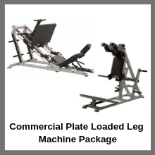 Commercial Plate Loaded Leg Machine Package