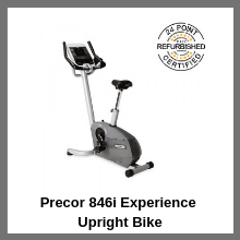 Precor 846i Experience Upright Bike