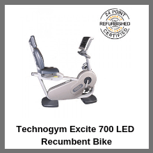 Technogym Excite 700 LED Recumbent Bike