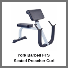 York Barbell FTS Seated Preacher Curl