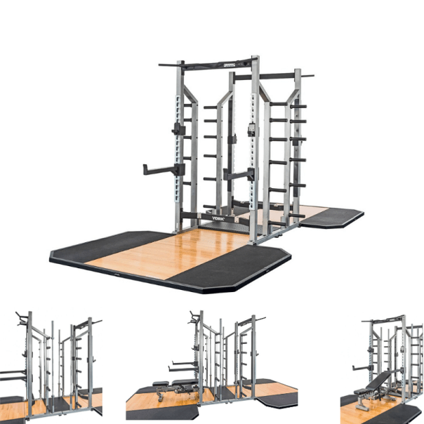 York Barbell STS Double Half Rack Package (1)