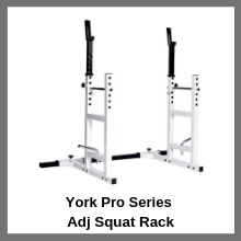 york Pro series squat rack