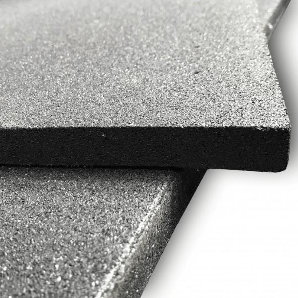 Premium Rubber Black Tile 1000mm x 1000mm x 20mm