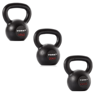 York Barbell Hercules Cast Iron Kettlebells 16-24kg Pack