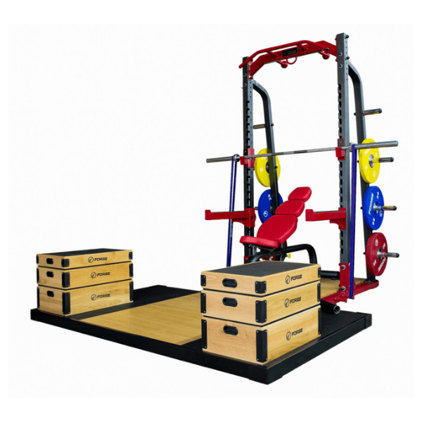 Forge Fitness Elite Half Rack and Platform