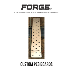 Forge Fitness Custom Made Peg Boards