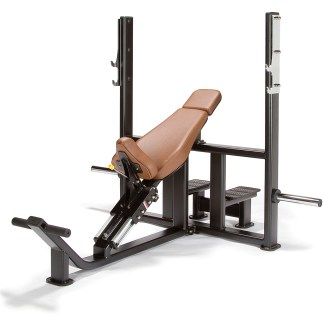 Superior Construction, Comfortable Training The Endura Fitness® PRO TRAIN Olympic Incline Bench is built to the highest commercial free weights standard. It comes with an extremely robust steel frame and excellent bio-mechanics & ergonomics. This bench is made to withstand the test of time. It comes with 2 different bar racking positions to accomodate different arm lengths. Buy With Confidence Endura Fitness® is so confident in the quality of their machines that they offer the longest & most comprehensive warranties in the fitness industry. This confidence comes from their 25+ years of experience of designing and manufacturing equipment for health clubs and gyms all over the world. Endura Fitness® is relentless in their pursuit for providing customers with some of the very best equipment in the industry focusing on the right blend of durability, functionality and features at an extremely competitive price.