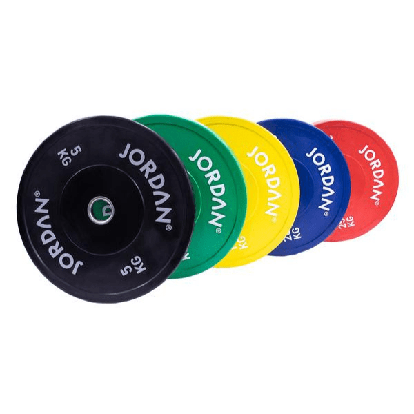 Jordan Fitness HG Coloured Rubber Bumper Plates