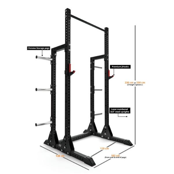 Extreme EX-PR-200 Half Power Rack1
