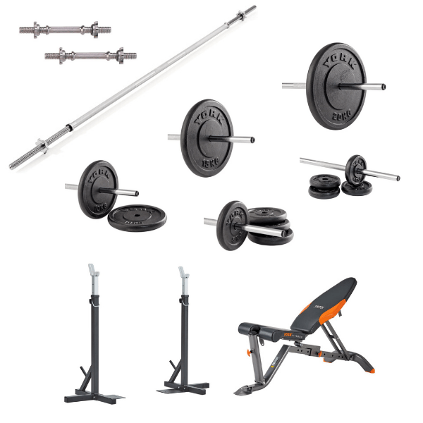 BEGINNERS FREEWEIGHT COMPLETE WEIGHT SET