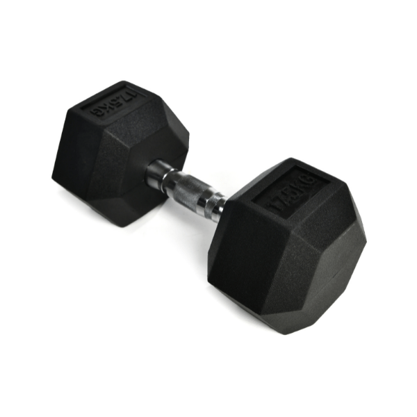 PGS Rubber Hex Dumbbell Set and Rack 2.5-30kg1