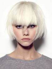 Platinum Pageboy Haircut