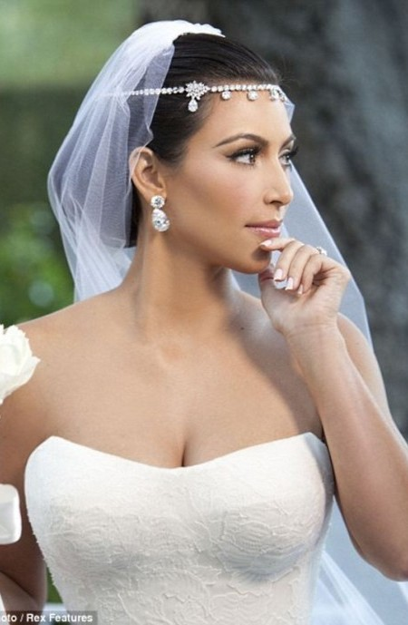 Kim Kardashian Wedding Low Updo Hairstyle