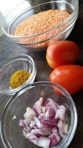 Ingredients to Lentil Soup