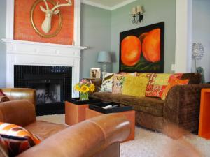 Orange Accent:Earthy Green:hgtv.com