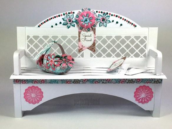 Papercraft Garden Bench