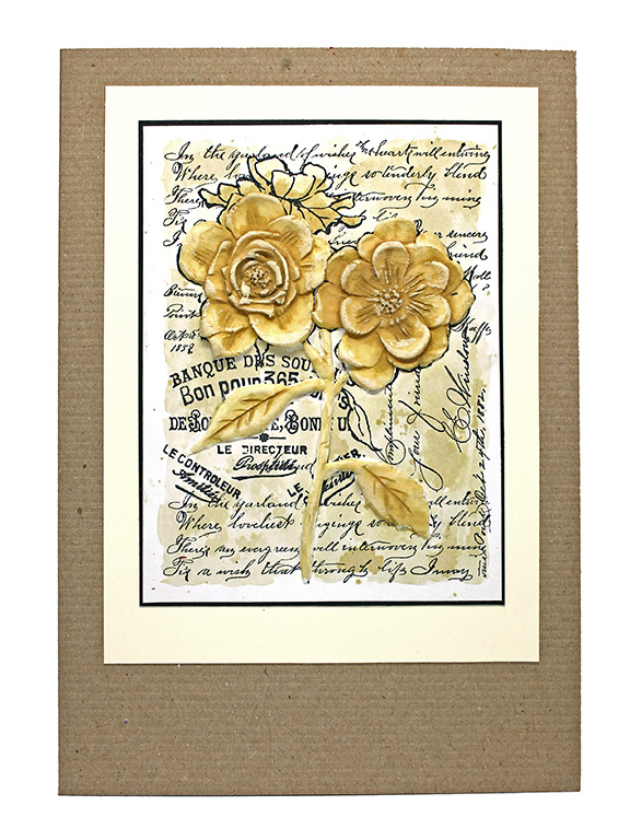 Bas Relief Rose Card