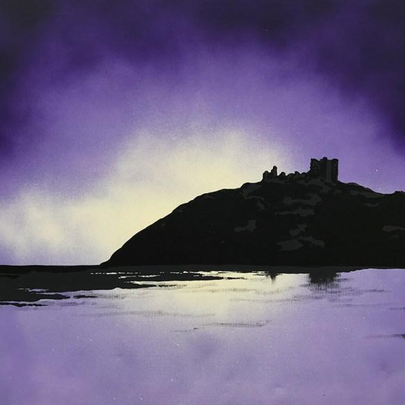 Criccieth Castle painting